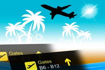 Bilde av fly og gates. foto.